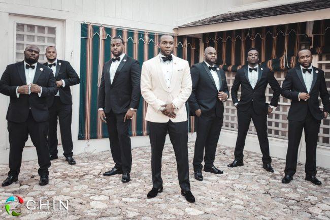 Sharp groomsmen