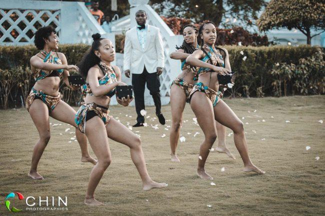 Flower girls dancing