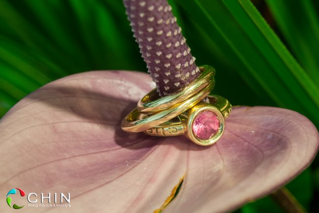 Jamaica wedding ring details