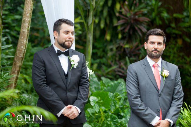 The Groom awaits his bride