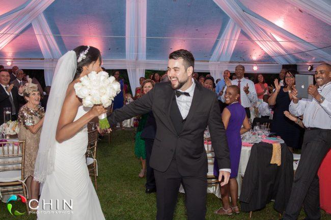 Happy Couple Wedding Reception