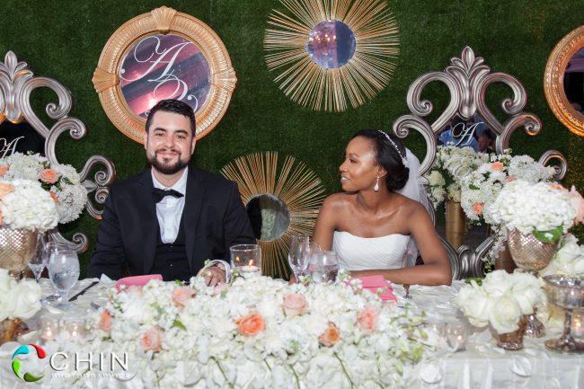 Head Table Couple Wedding Reception