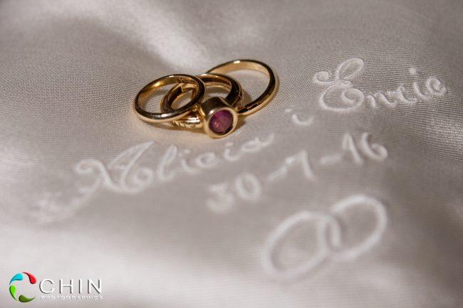 The Rings Enric and Alicia Terra Nova Wedding