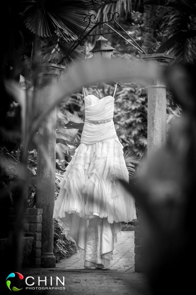 Wedding Dress Shot Konoko Falls Jamaica